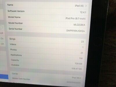 Apple iPad Pro 1st Gen. 128GB, Wi-Fi, 9.7in - Space Grey