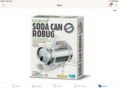 4M Green Science Soda Can Robug (Recycling Educational Toy