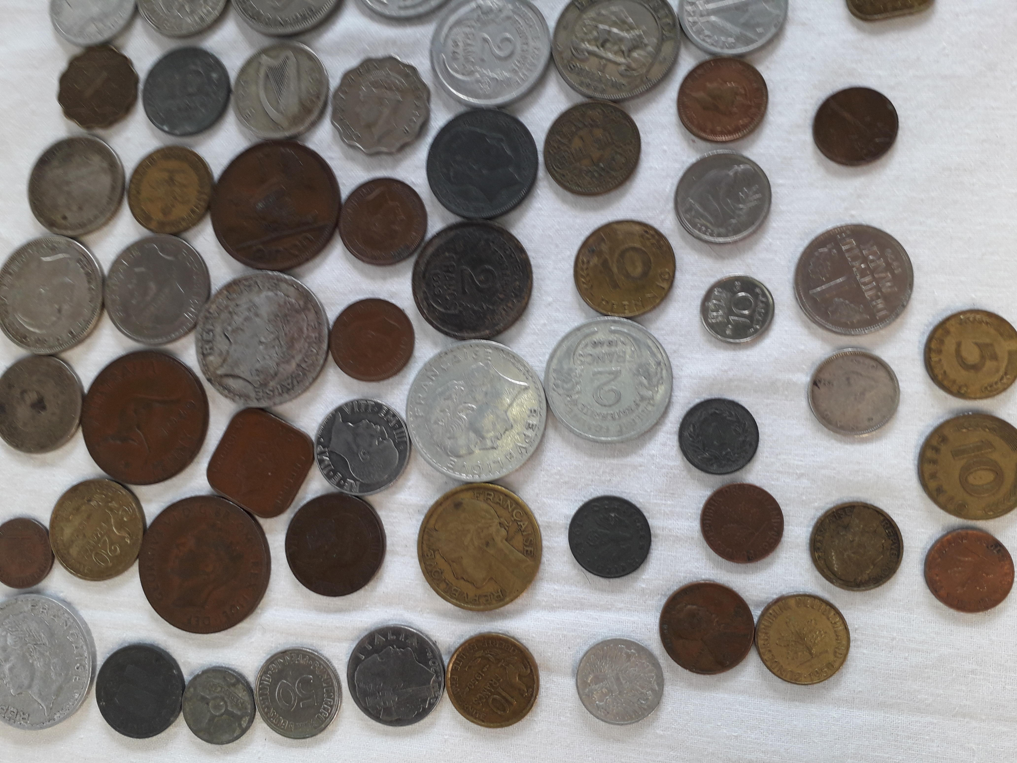 95 VINTAGE COINS FROM ALL OVER THE WORLD