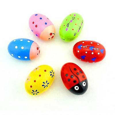 Children Baby Toys Rattles Wooden Music Egg Shaker Style
