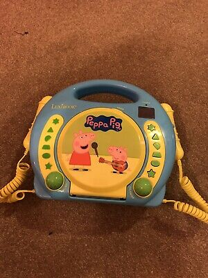 Lexibook Peppa Pig Georges CD player for kids with 2 toy