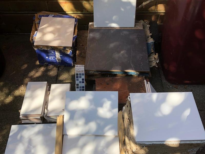 FREE - Surplus unused Ceramic wall tiles - to go as one lot.