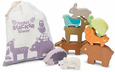 Le Toy Van Petilou BABY FOREST STACKER TOWER & BAG Wooden