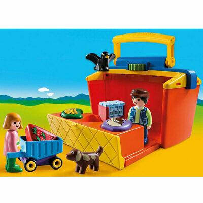 Playmobil 1.2.3 Take Along Market Stall