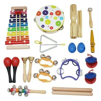 19Pcs Orff Musical Instruments Set Children Early Childhood