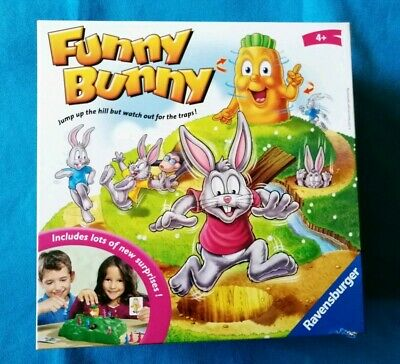 FUNNY BUNNY ~ Childrens Carrot Race Board Game by