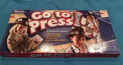 Learning Resources: GO TO PRESS - A Grammar Game