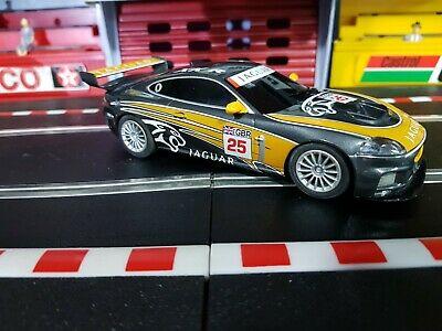 Scalextric digital 1:32 Car - C Orange & Black Jaguar