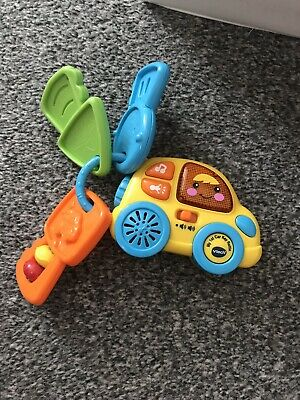 Vtech My First Car Key Rattle Baby Toy With Sounds And