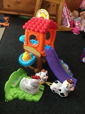 Vtech Toot Toot Chicken Coop With Cow And Baby