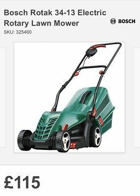 Bosch Rotak  Electric Push Lawn Mower RRP 115£
