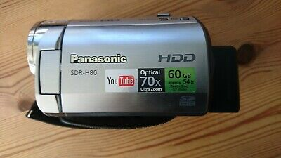 PANASONIC SDR-H80 CAMCORDER 60GB HDD / CARD HARD DISC DRIVE