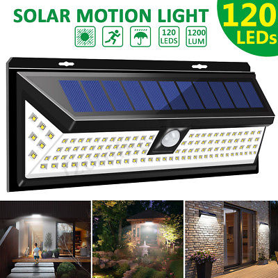 120 LED LM Outdoor Garden Solar Power Light Security