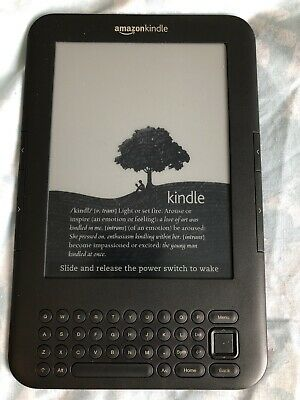 "Amazon Kindle Keyboard (3rd Generation) 4GB 6"" Wi-Fi 3G"