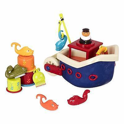 B toys – Fish N Splish Tub Toys Set – BPA Free 13-Pieces