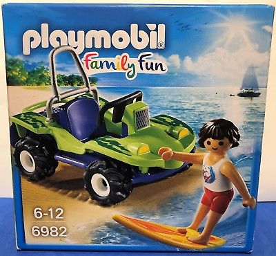 BRAND NEW Playmobil  Family Fun Surfer with Beach Quad