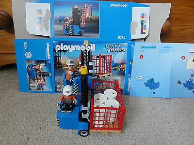 Complete Playmobil  City Action Forklift - Box and