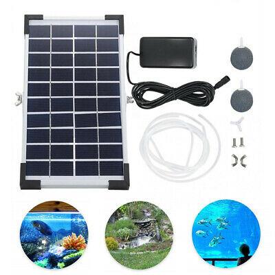 HOT Solar Powered Oxygenator Pond Water Oxygen Pump Air