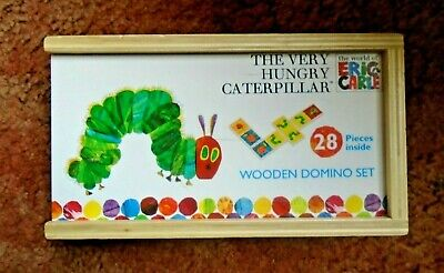 THE VERY HUNGRY CATERPILLAR WOODEN DOMINO SET BY ERIC CARLE