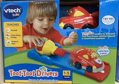 VTECH BAby Toot Toot Drivers Press And Go Laucher 2 Track