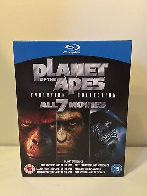 PLANET OF THE APES: EVOLUTION COLLECTION - 7 MOVIE BLU RAY