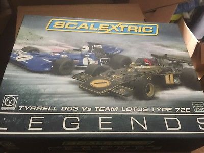 Scalextric Legends Set Tyrrell 003 & Lotus 72e F1 Formula