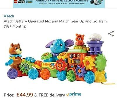 VTech GearZooz Gear Up & Go Train Push along Animal train