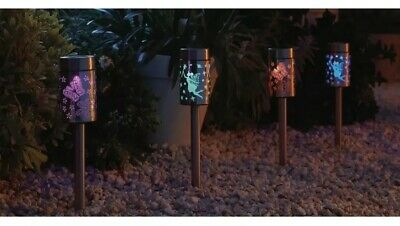 Coloured Fairy and Butterfly Solar Lights 4 Pack Patio And