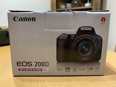Canon EOS 200D 24.2 MP Digital SLR Camera - Black (Kit with