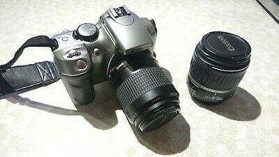 Canon EOS 300D plus mm lens and mm lens carry bag