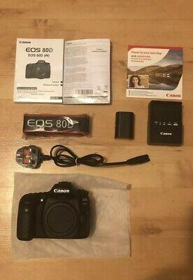 Canon EOS 80D 24.2MP Digital SLR Camera Body Only - Black