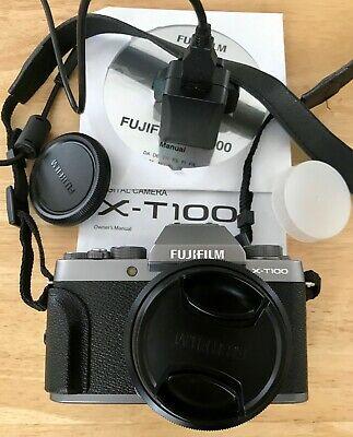 Fujifilm X-TMP Dark Silver with XC mm lens in