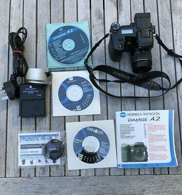 Konica Minolta DiMAGE A2 8.0MP Digital SLR Camera - Black