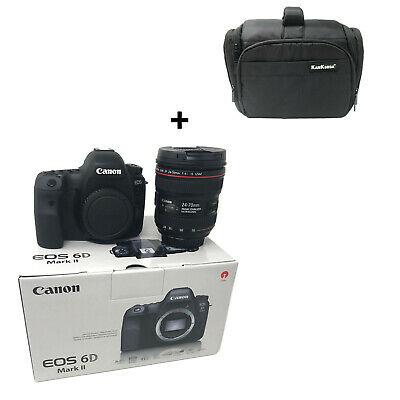 NEW Canon 6D Mark II + EF mm f/4L IS USM + KamKorda Bag