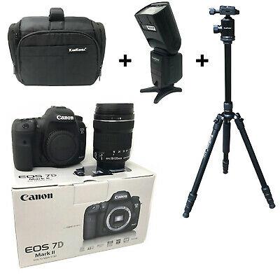 NEW Canon 7D Mk II + mm USM + Bag + Flash + Tripod -
