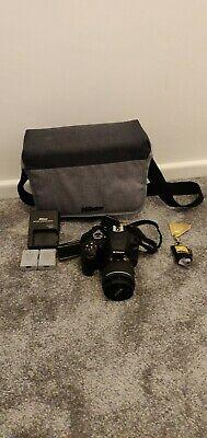 Nikon D DSLR Camera with AF-P DX  VR Lens - Black