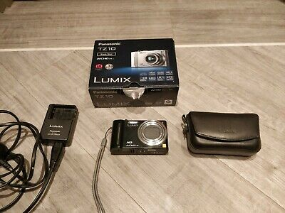 Panasonic LUMIX DMC-TZ10EG-K 12.1MP Digital Camera - Black