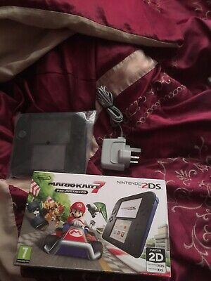 Nintendo 2DS Mario Kart 7 2GB Black/Blue Console (PAL) Comes