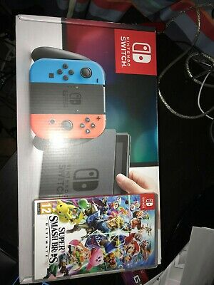 Nintendo Switch 32GB Home Console - Neon Red/Blue With Super