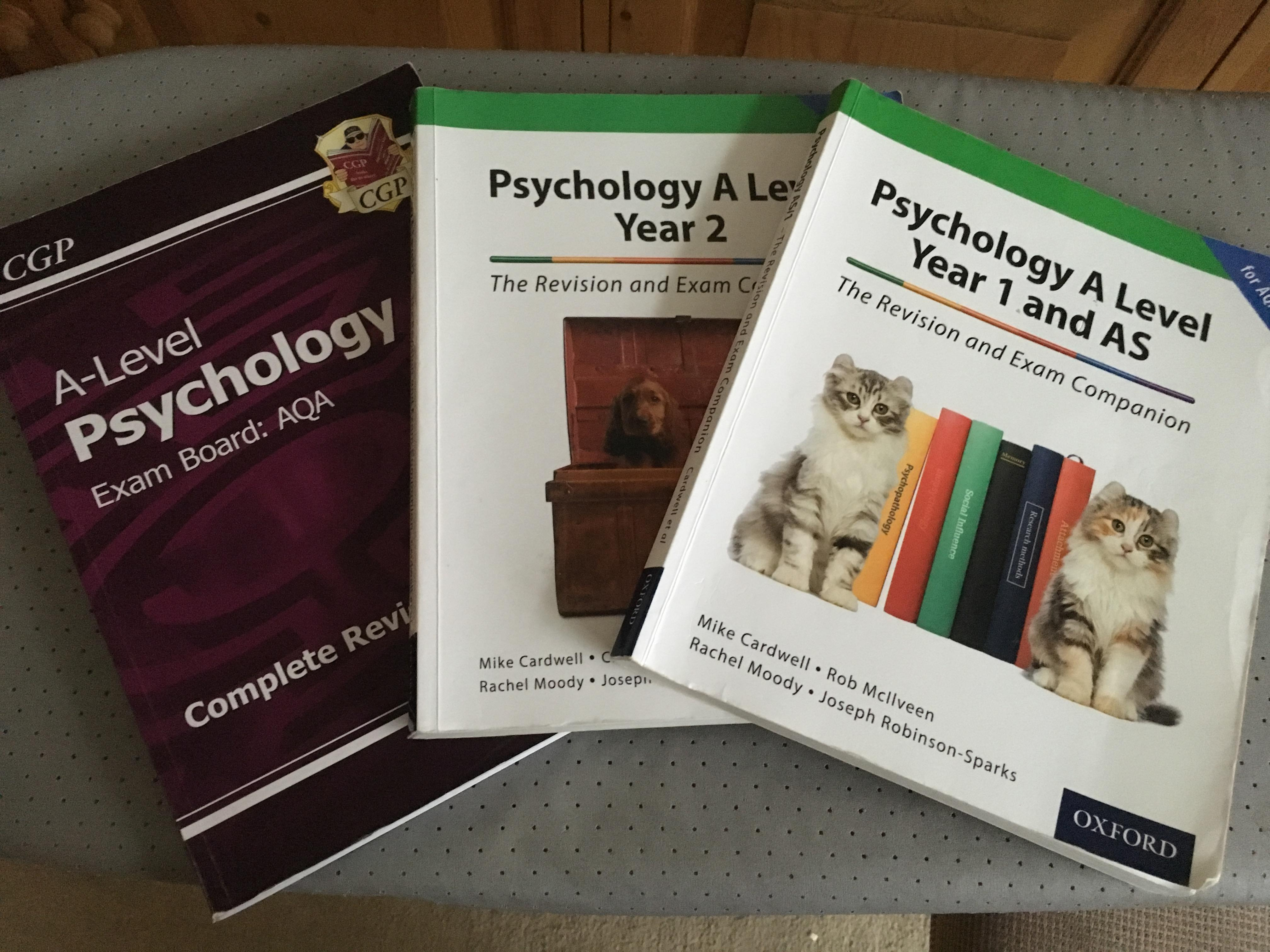 Bundle of 3 Psychology A Level Books AQA Board