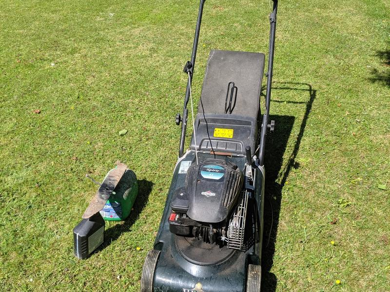 Hayter Spirit 41 Petrol Mower with spare blade, spare oil,