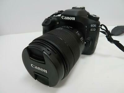 CANON EOS 80D 24MP DIGITAL SLR CAMERA W/ MM LENS & 3x