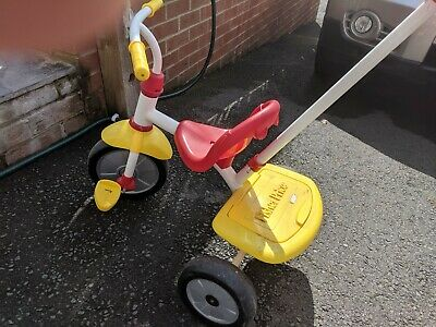 Fisher price push Along Tricycle - white, red and yellow