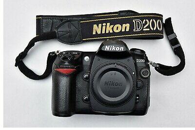 Nikon D200 SLR Digital Camera Body Only - Black, boxed, two