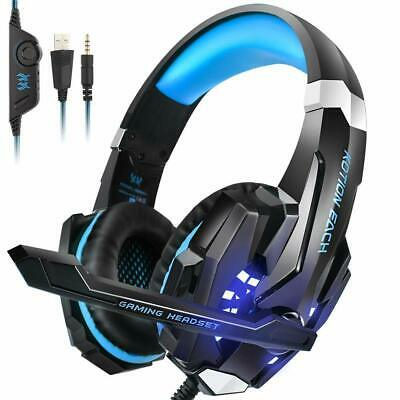 PS4 Headset, INSMART PC Gaming Headset Over-Ear Gaming