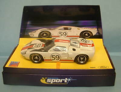 SCALEXTRIC NOS CA NO 59 WHITE FORD GT LE MANS CAR