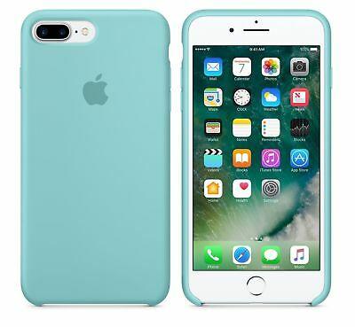 SEA BLUE GENUINE ORIGINAL Apple Silicone Case NEW for iPhone