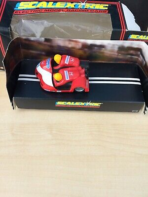 Scalextric Motorbike And Side Car C238 Racing Red