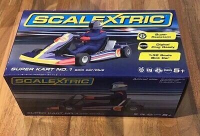 Scalextric: Super Kart No.1 Solo Car / Blue (C)