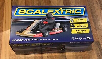 Scalextric: Super Kart No.8 Solo Car / Black (C)
